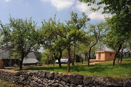 Cabane lodge en Auvergne